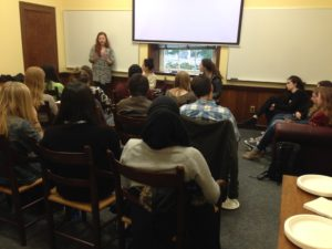 Marcelle encouraged students to take advantage of Career Services' resources